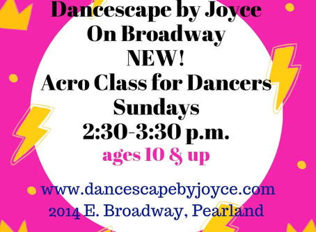 Sunday Acro for Dancers class at DBJ of Broadway!