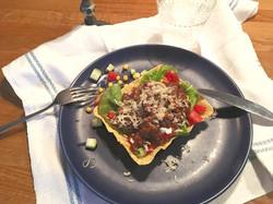 Taco med belugalinser