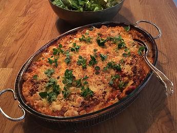 lasagne med squash och linser | vegetarisk mat