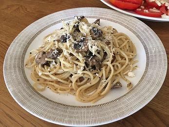 pasta carbonara | vegetarisk mat