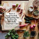 Kurs i vegetarisk matlagning för kockar på förskola