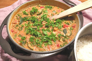 Daal med squash och grönskål