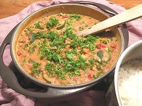 Daal med squash och grönkål