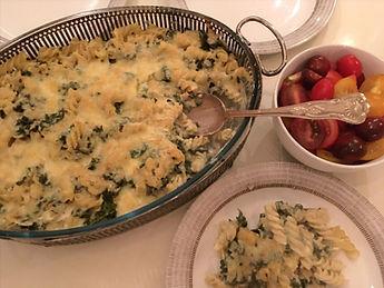 Pastagratäng med grönkål och cayennepeppar