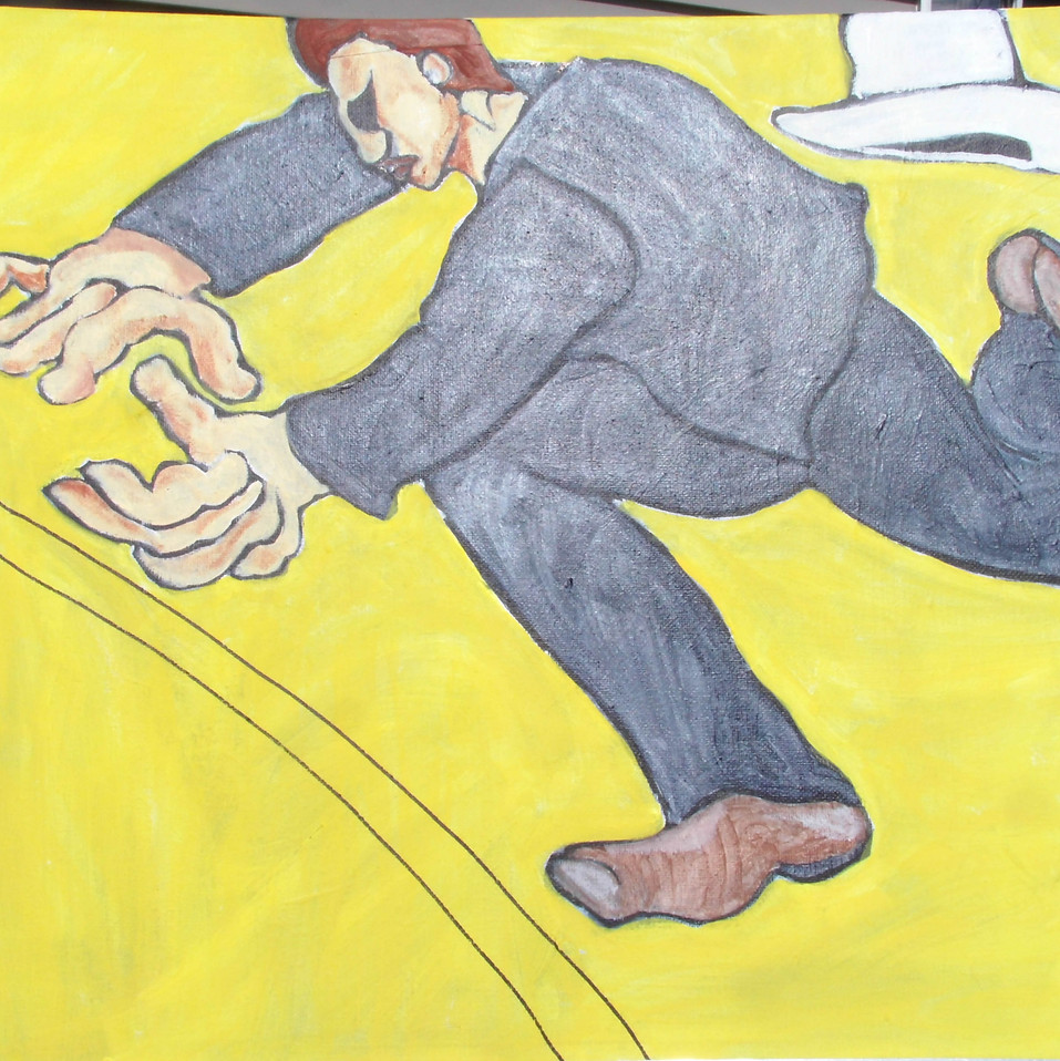 """Trippin''- 16x20 acrylic on canvas"