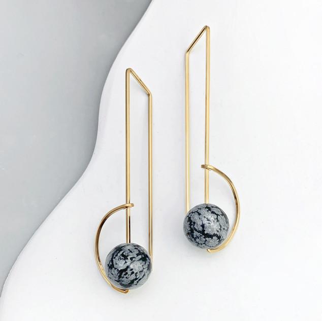 Lisa Slodki Orbit Earrings (snowflake ob