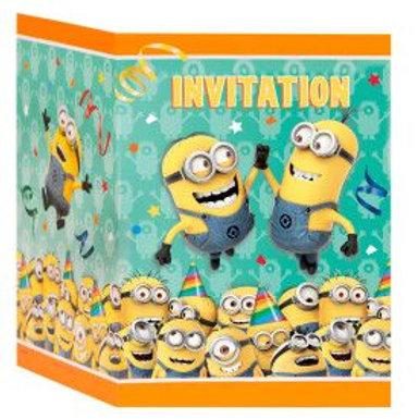Invitation Despicable Me 3 8C