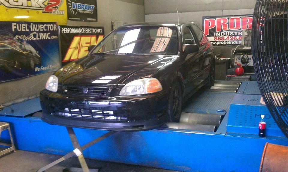 Honda Civic Dyno pulls
