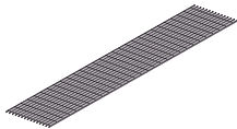 Panel & Serrated Grating