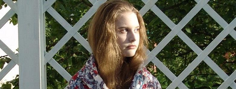 Christina wearing Russian shawl