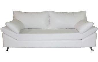 sofa con patas cromadas