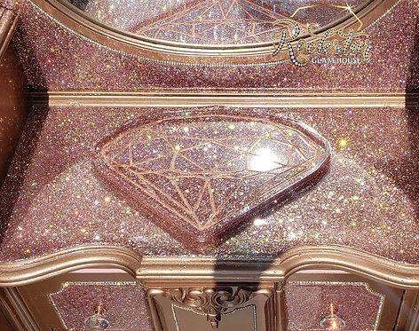 Rose gold glitter diamond tray
