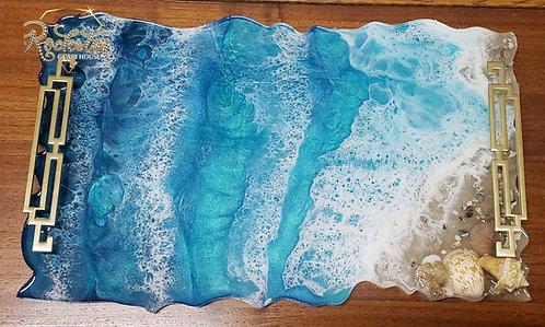 """""""Paradise Awaits"""" Resin Beach Tray"""