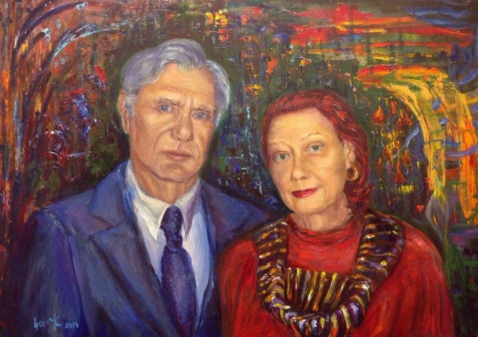 Portrait of granparents