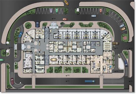 Architectural Plan 2D Visualization