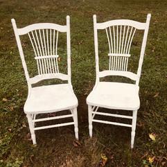 White High Back Farmhouse Chairs