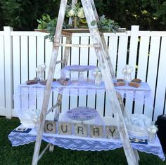 Vintage Wood Ladder Display