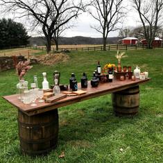 Whiskey Barrel Farmhouse Table