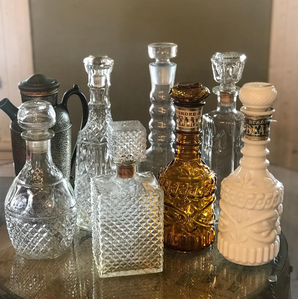 Vintage decanters