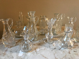 Small Glass Bottles and Vases