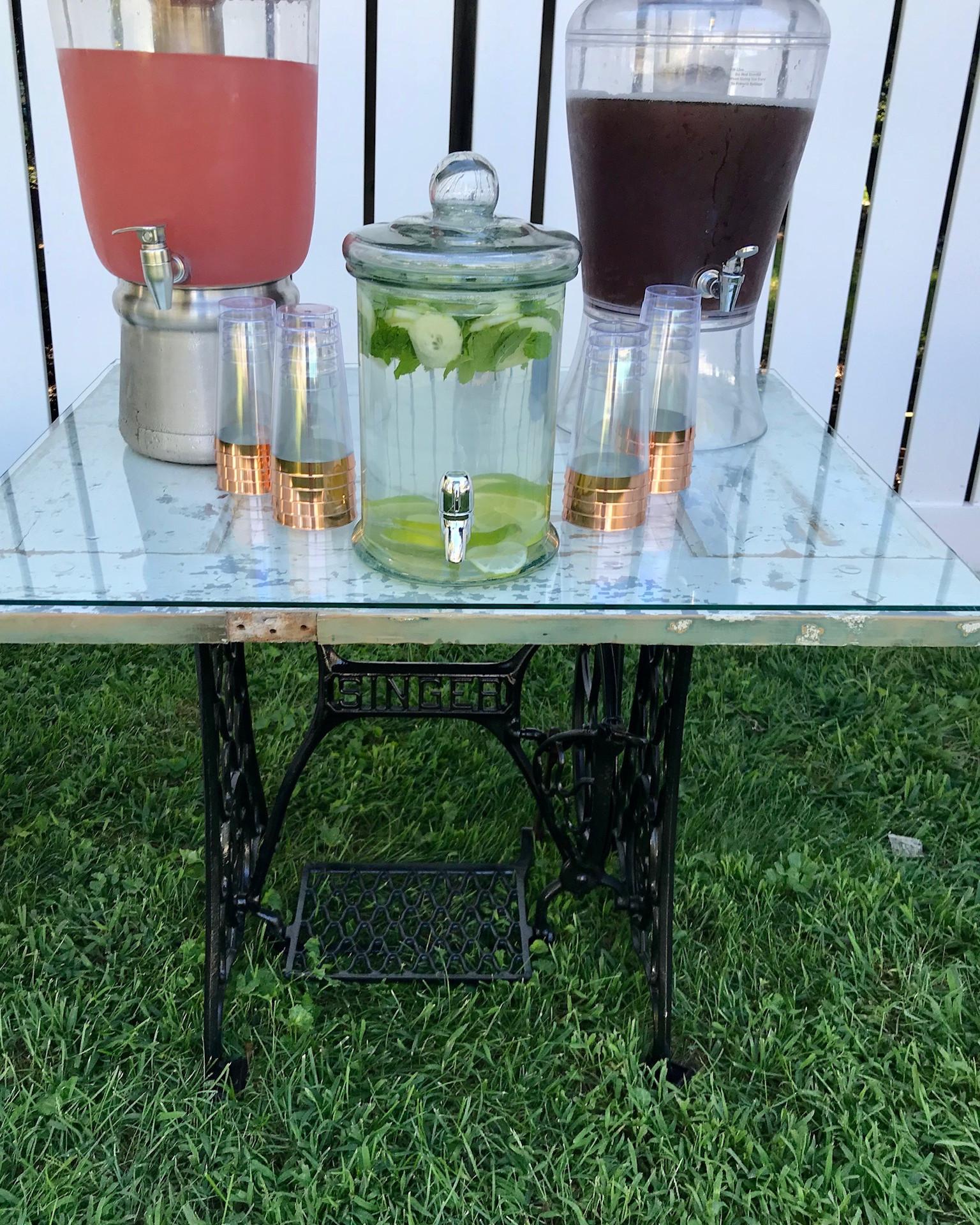 Farmhouse Beverage Table