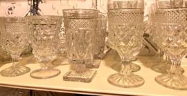 Vintage Cut Glassware Clear