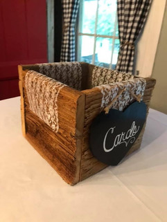 Cypress Wood Card Box - $5