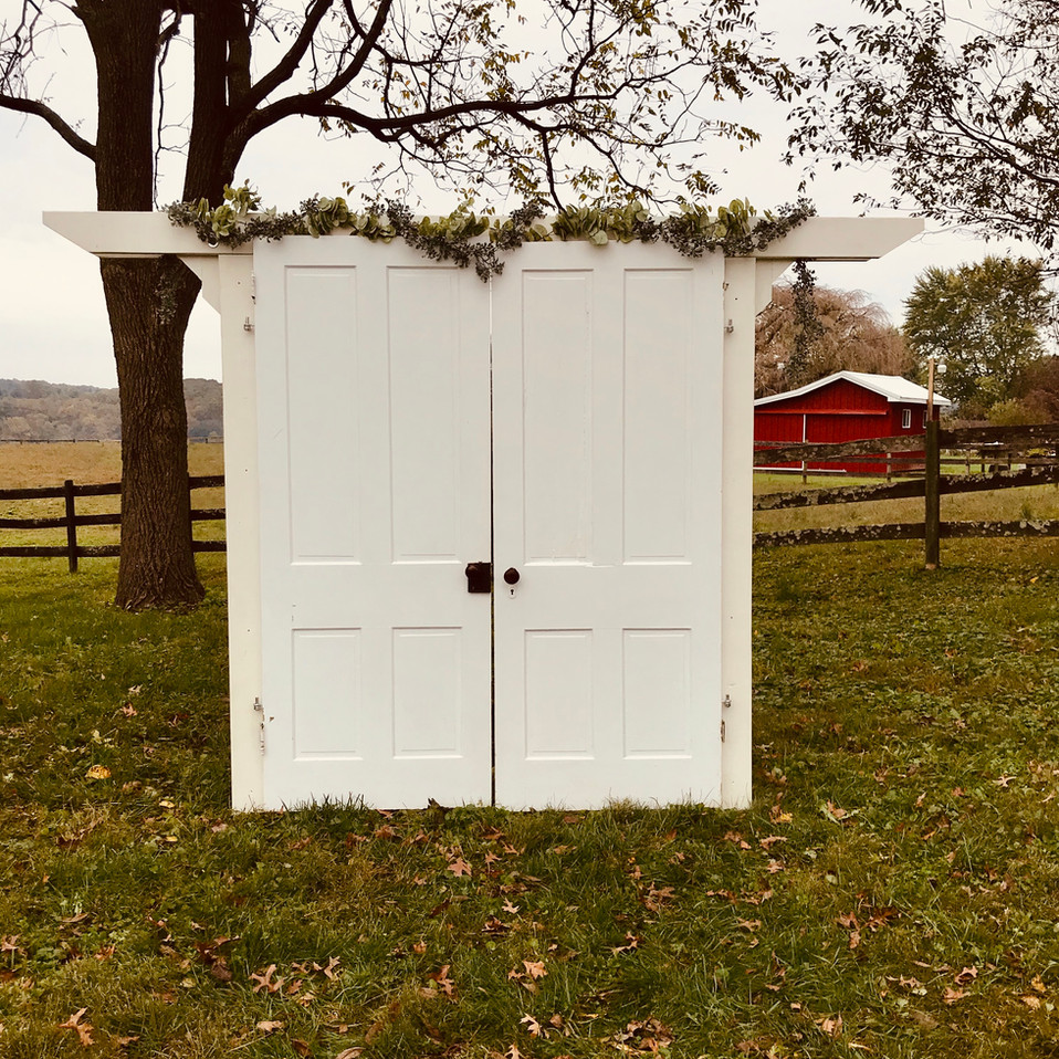 Vintage Farmhouse Door Arbor