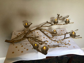 Gold Tree Branch Candelabra - $10