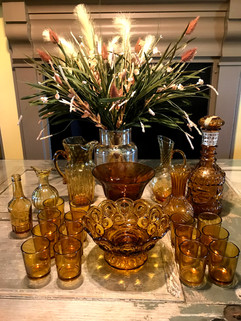 Amber Glass - pricing varies, individual pieces or lot
