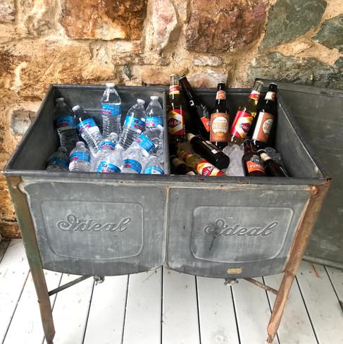 Vintage Wash Tub Cooler