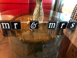 Mr. & Mrs. Block Letters - $5