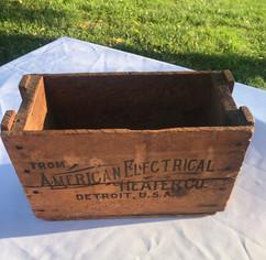 Vintage Crate Card Box - $5