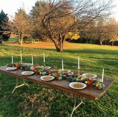 farmhouse table topper