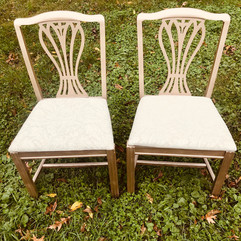 Vintage Gold Bride and Groom Chairs