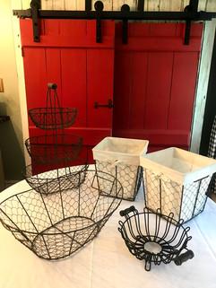 Farmhouse Wire Baskets - $5 ea