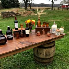 Rustic Whiskey Barrels