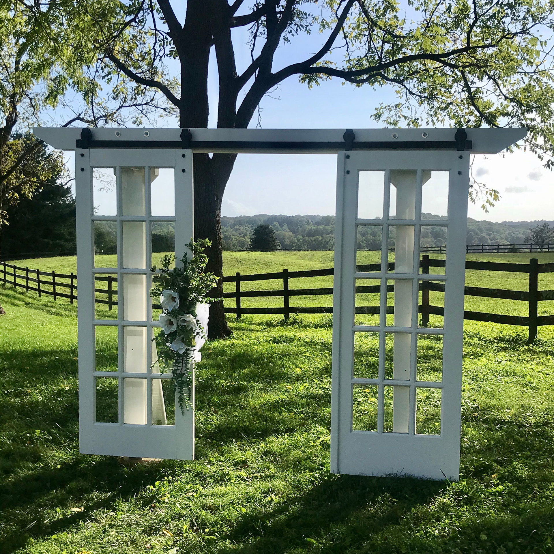Vintage French Door Arbor