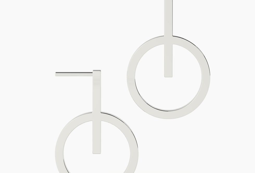 SHORT CIRCLE EARRINGS