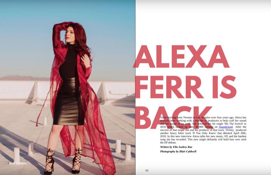 Alexa Ferr for Gold Crwn Magazine