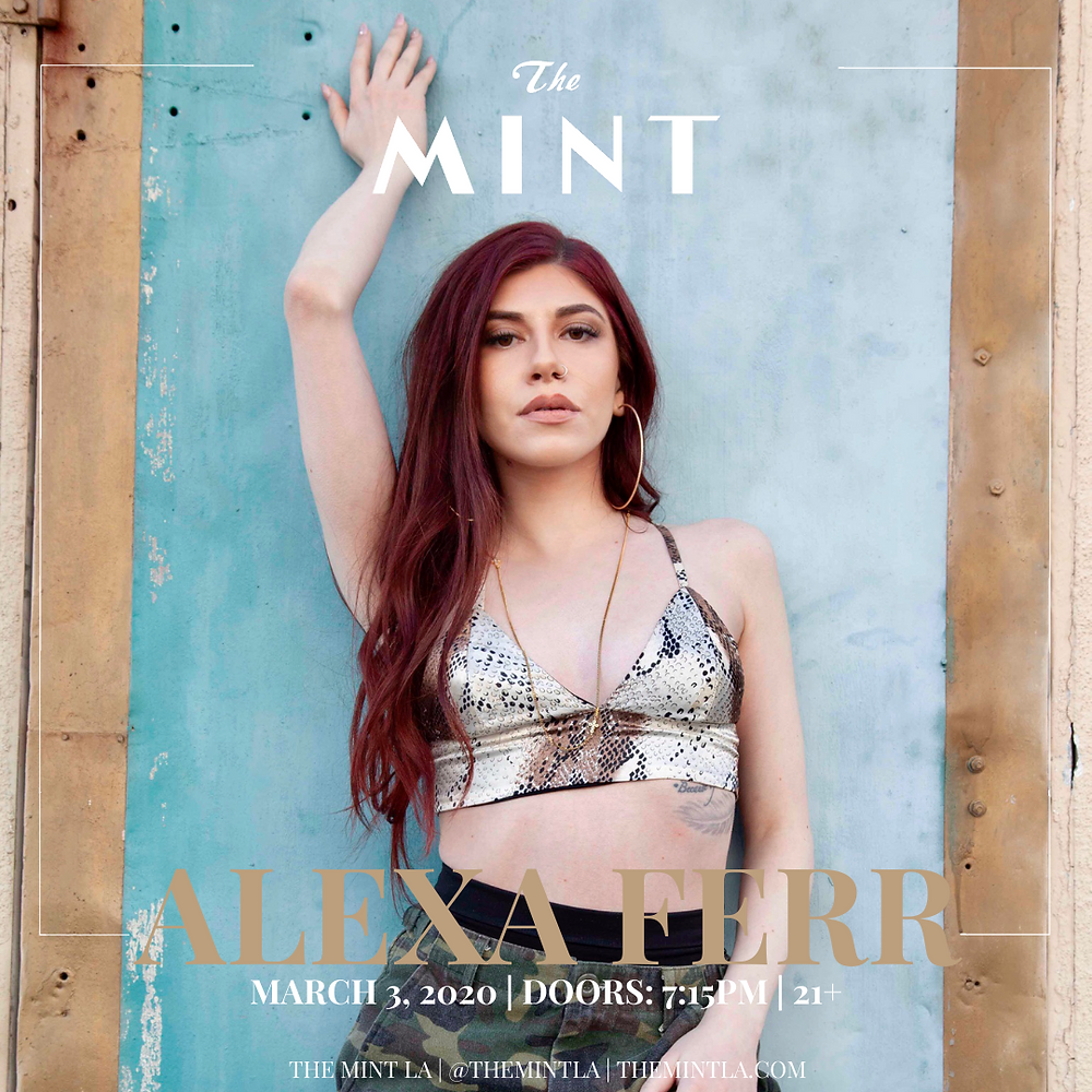 Alexa Ferr performing at The Mint LA
