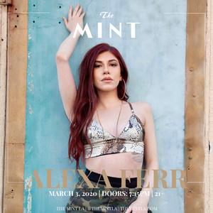 Alexa Ferr performing at The Mint LA