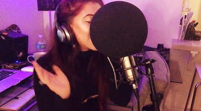 Alexa Ferr Recording Music