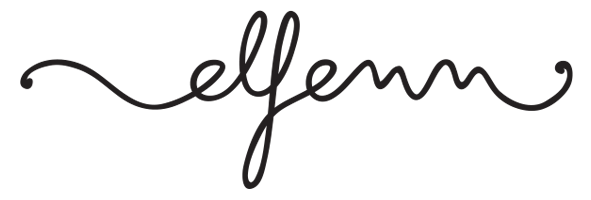 Elfenn illustrations logo signature