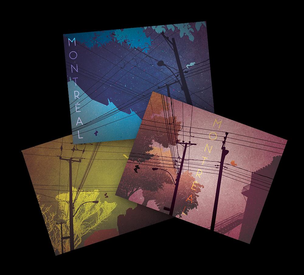Cartes postales des rues de Montréal