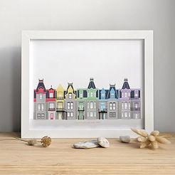 Elfenn Poster Montreal Houses Rainbow Ho
