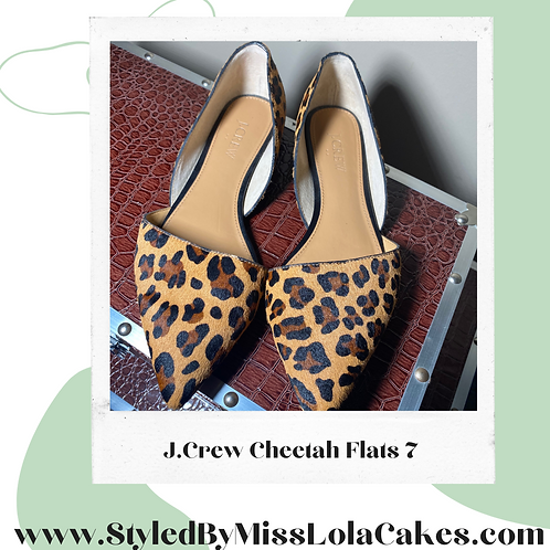 JCrew Cheetah Print Shoes