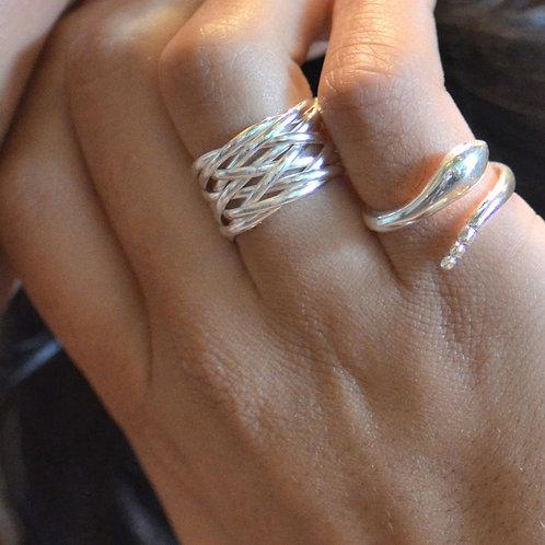 Kaisa Sterling Silver Basket Weave Ring