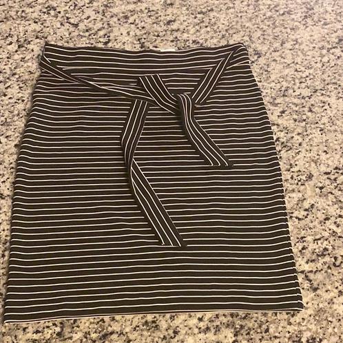 Loft Tall Striped Tie Waist Pencil Skirt