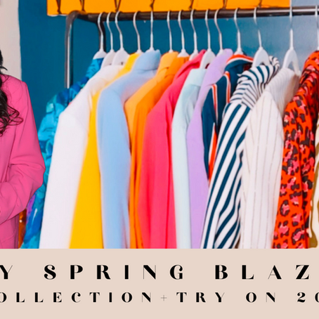 As Seen On YouTube: My Spring Blazer COLLECTION